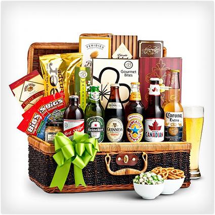 Craft Beer Snacks Basket