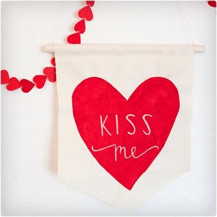 Fabric Valentine Scroll